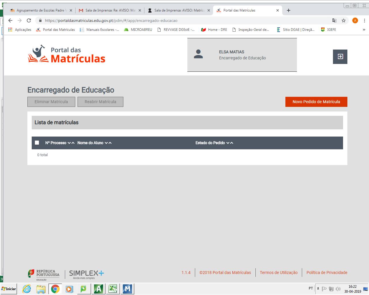 Imagem acesso portal das matrículas